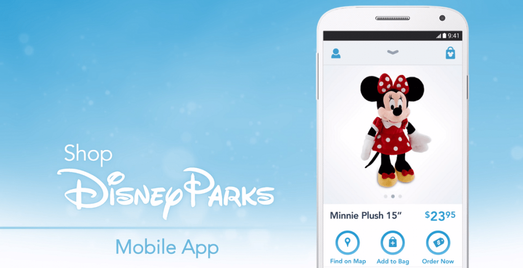 The shopDisney app