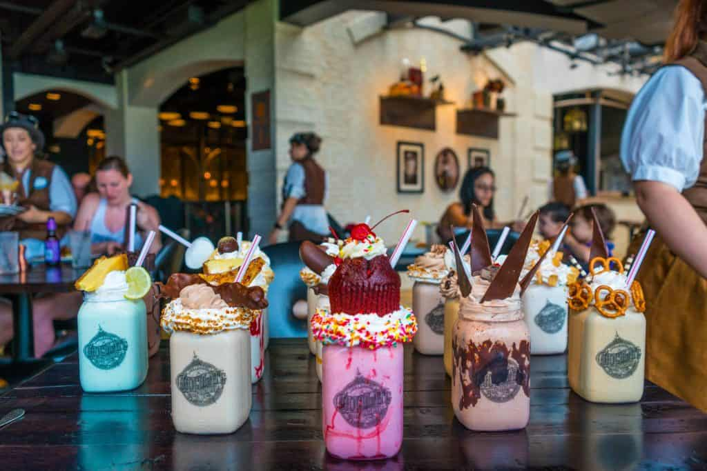 Toothsome Chocolate Emporium milkshakes at Universal Orlando CityWalk