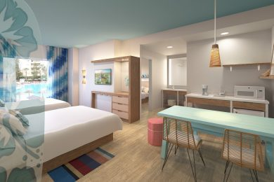 Universal's Endless Summer Resort Surfside Suite concept art