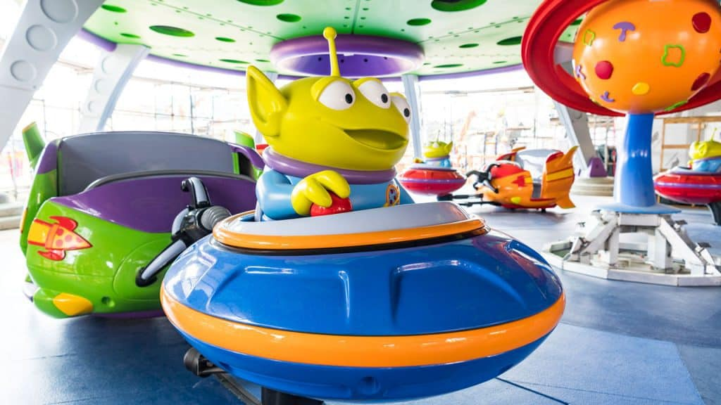 Alien Swirling Saucers at Disney World's Toy Story Land