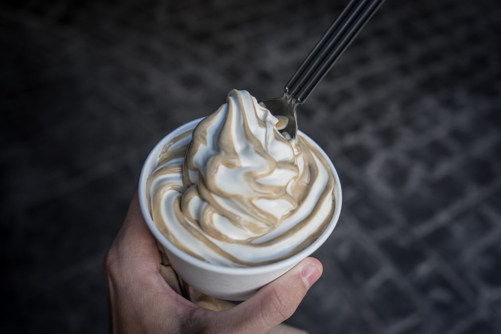 Butterbeer ice cream at Universal Orlando Resort