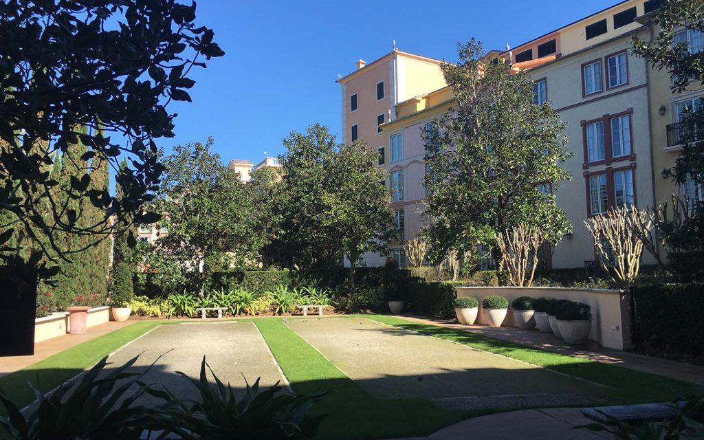 Portofino Bay Hotel's Bocce ball courts
