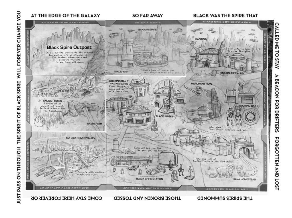 Star Wars: Galaxy's Edge map from Galactic Nights 2018