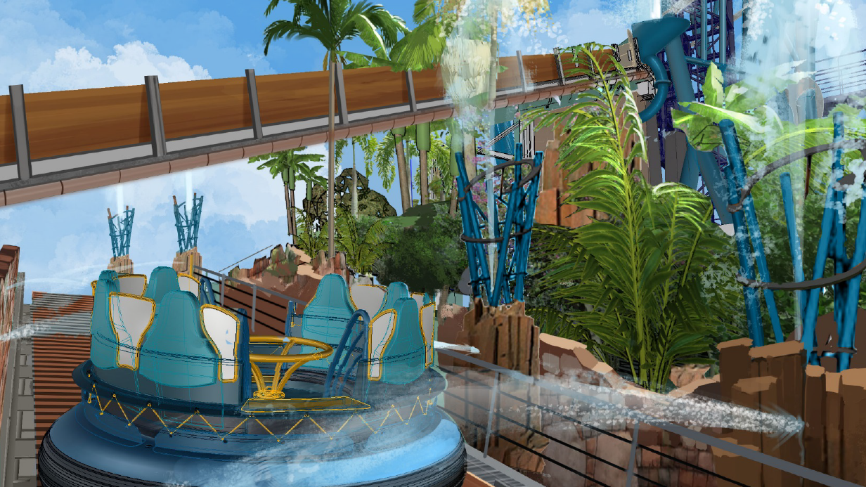 Infinity Falls's complete ride experience at SeaWorld Orlando