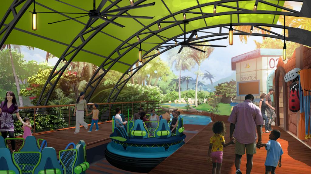 Infinity Falls at SeaWorld Orlando concept art