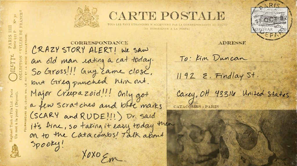 Dead Exposure Patient Zero backstory postcards (5)