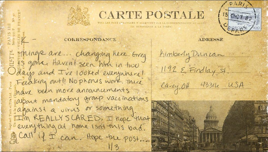 Dead Exposure Patient Zero backstory postcards (7)