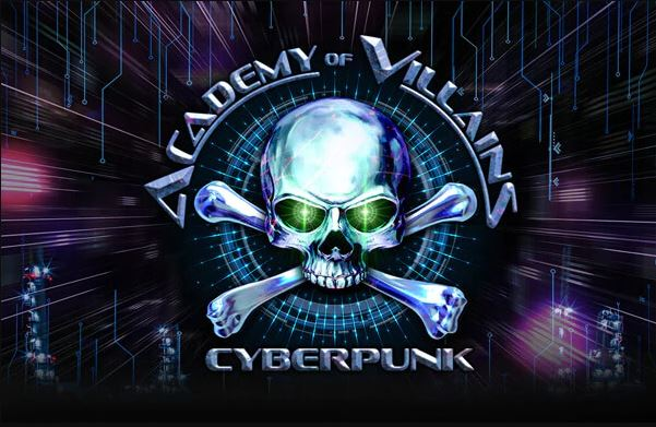 Academy of Villains: Cyberpunk logo at Halloween Horror Nights 2018
