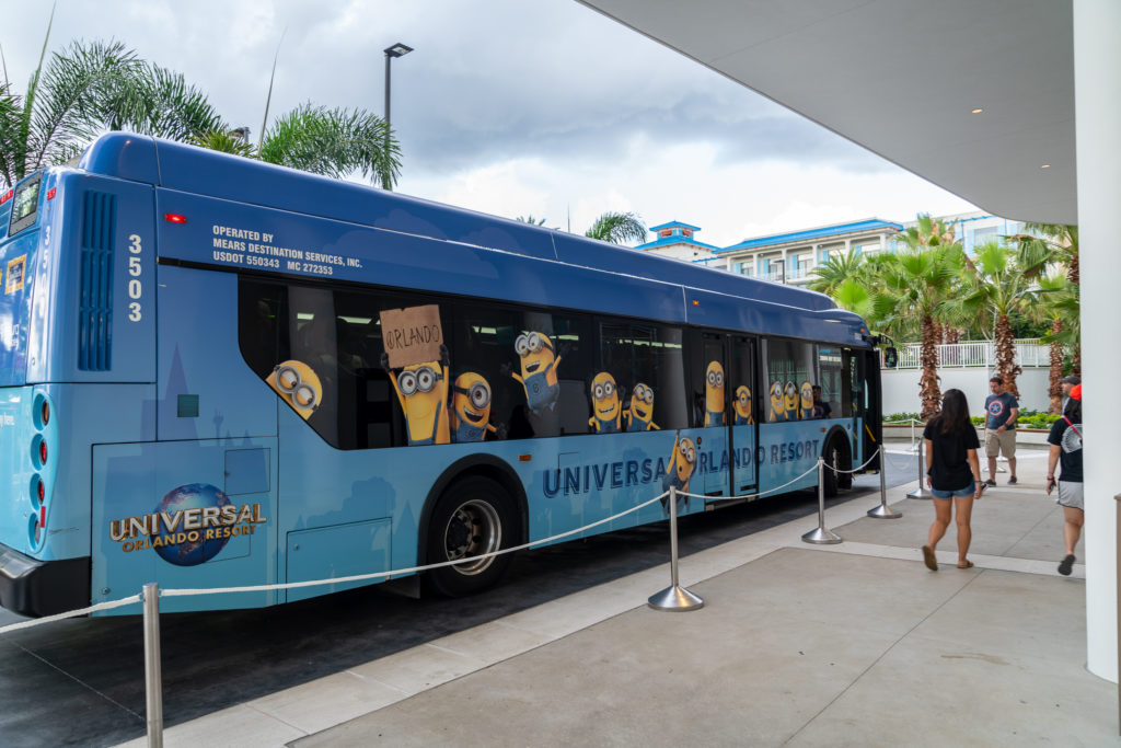Bus at Universal's Aventura Hotel