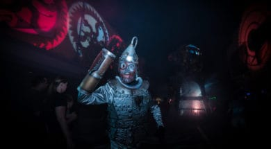Tin Man from the Scary Tales Screampunk scare zone at Halloween Horror Nights 2015