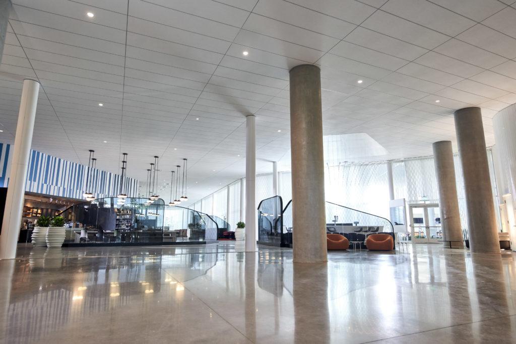 The lobby at Universal's Aventura Hotel
