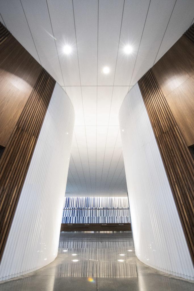 The lobby at Universal's Aventura Hotel.