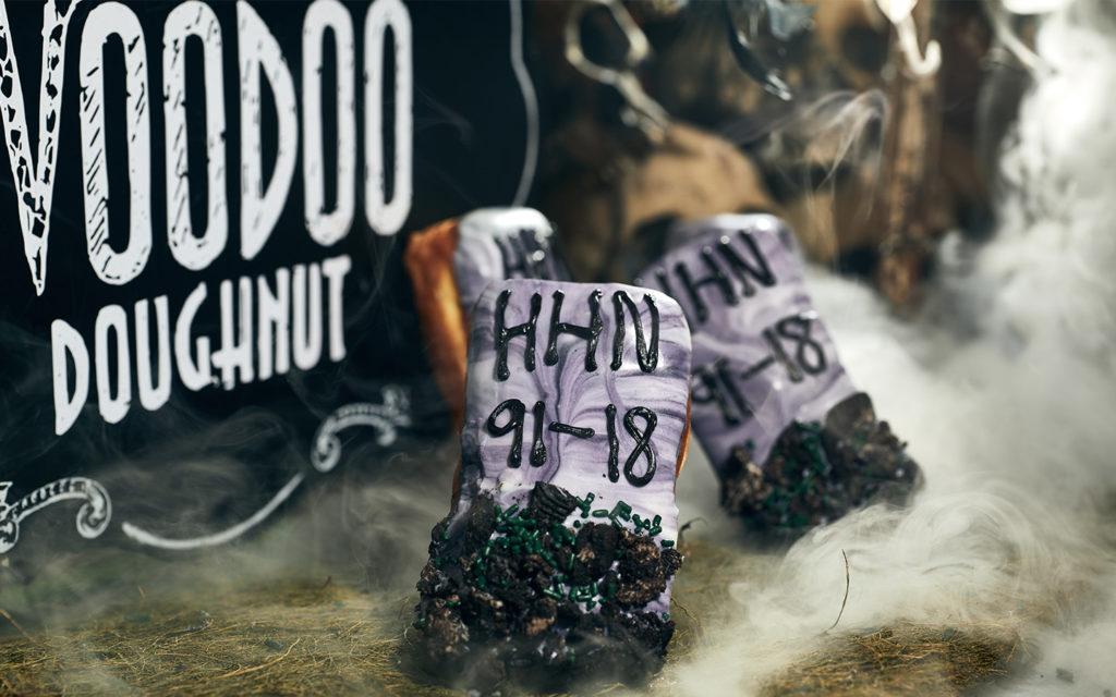 HHN Tombstone Doughnut at CityWalk's Voodoo Doughnut