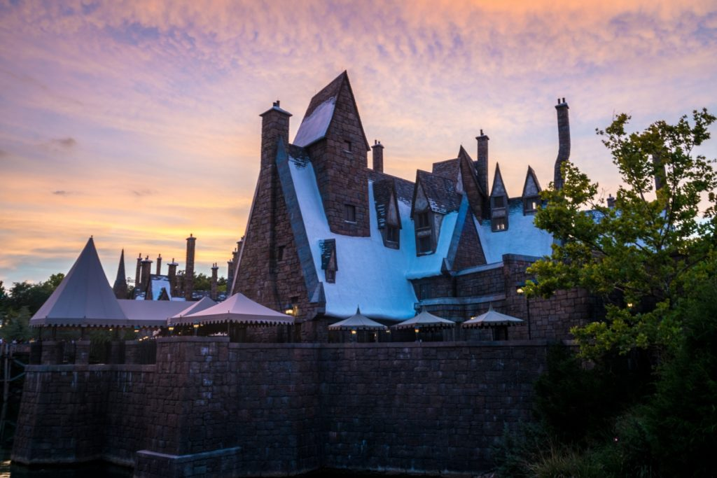 Sunset at The Three Broomsticks at The Wizarding World of Harry Potter - Hogsmeade