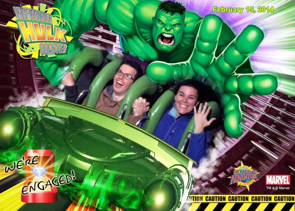 The Incredible Hulk's engagement ride photo
