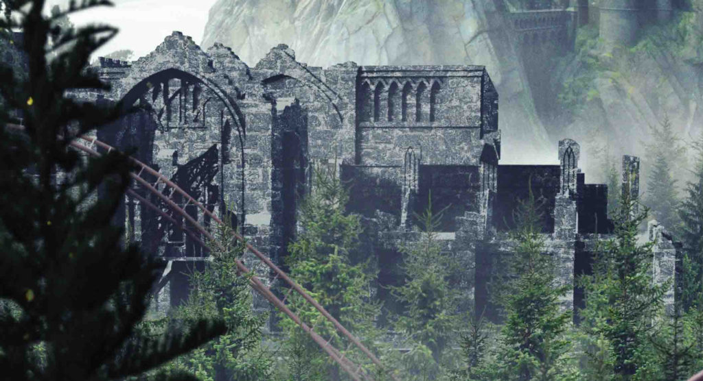 New Harry Potter roller coaster – ruins