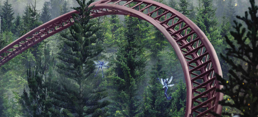 New Harry Potter roller coaster – track