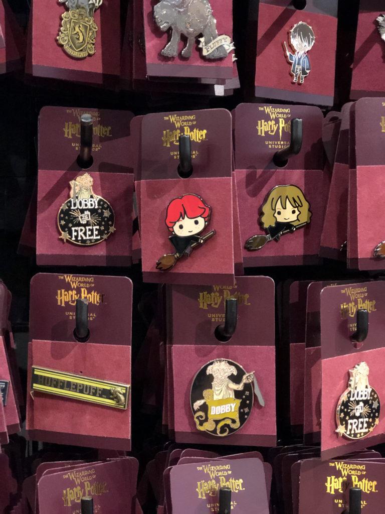 Collectible pins at Universal Orlando