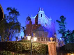 Haunted Mansion at Magic Kingdom at night