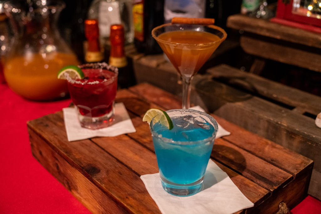 Jack Frost, Pumpkintini, and Cranberry Margarita at Universal's Holidays 2018