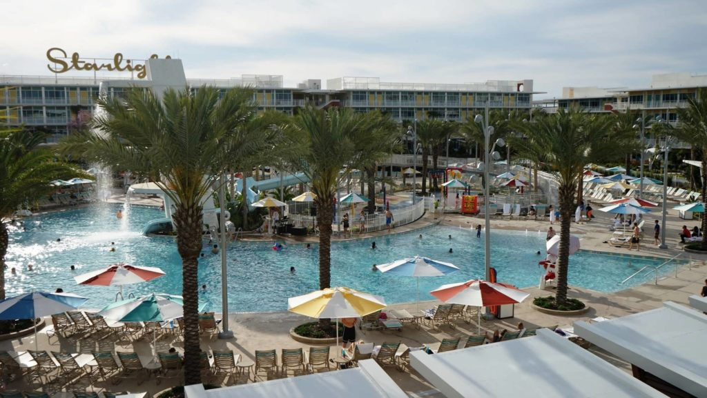 Cabana Bay Beach Resort's North Courtyard pool at Universal Orlando