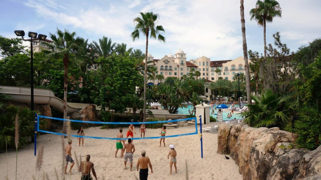 Hard Rock Hotel's beach volleyball area at Universal Orlando
