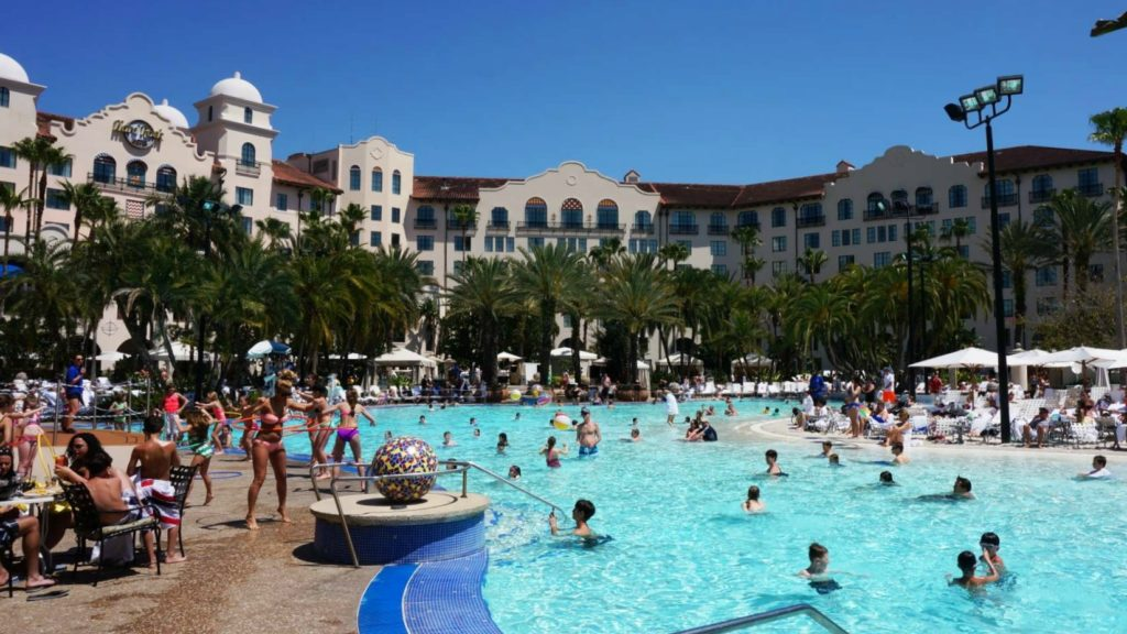 Hard Rock Hotel's pool at Universal Orlando