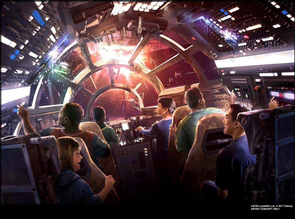Millennium Falcon: Smuggler's Run at Star Wars: Galaxy's Edge concept art