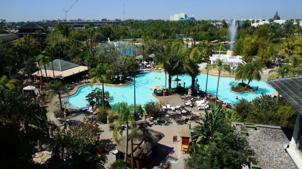 Royal Pacific Resort's pool at Universal Orlando