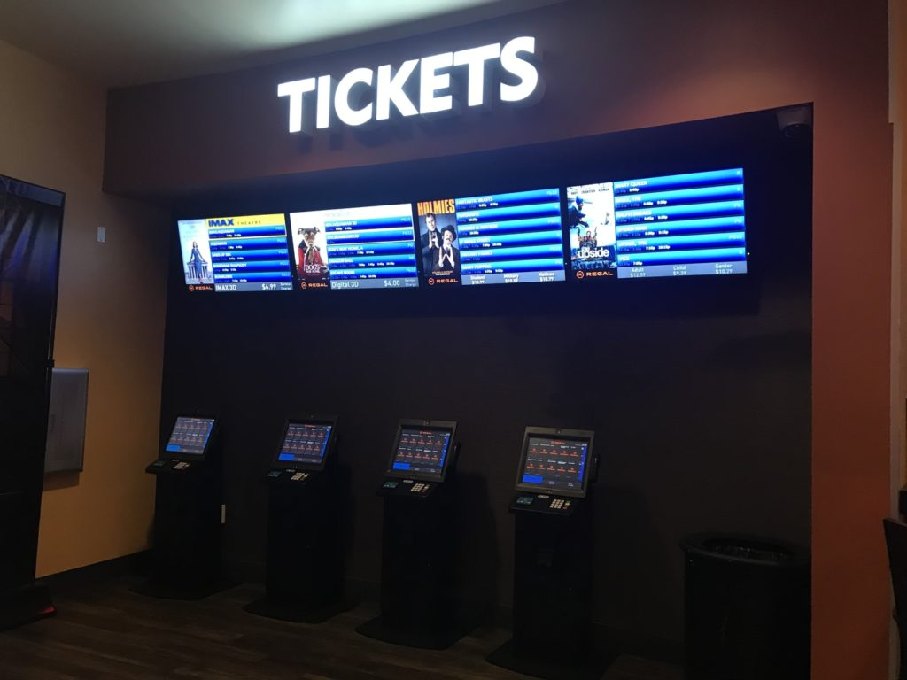Self-service ticket stand at Regal Pointe Orlando