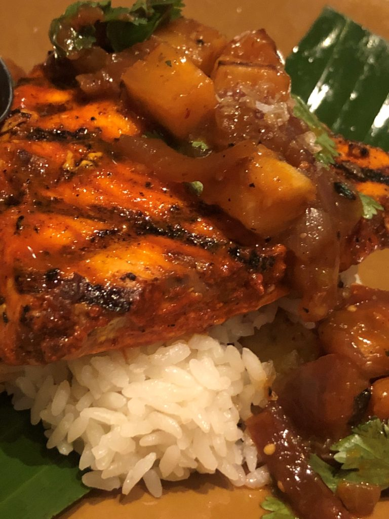 Swordfish and plantain rice at Frontera Cocina