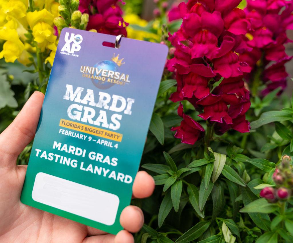 Mardi Gras Tasting Lanyard at Universal Studios Florida
