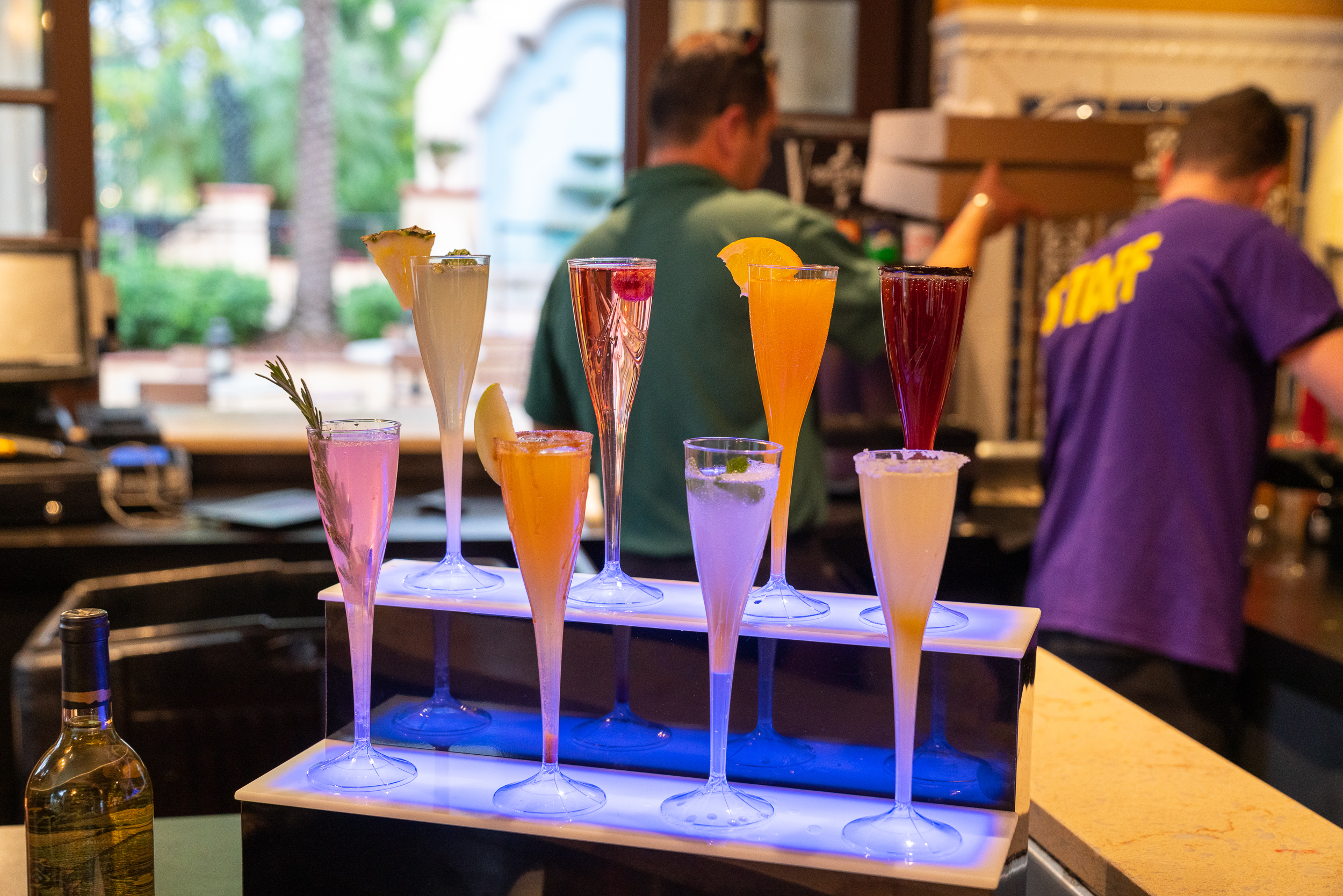 The mimosa selection at Cafe La Bamba.