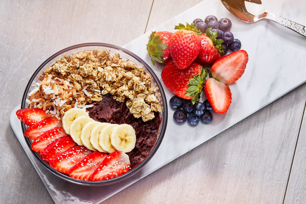 Organic Acai Bowl at Today Cafe at Universal Studios Florida
