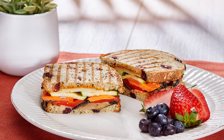I Heart Vegan sandwich