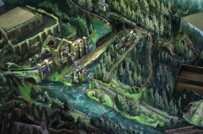 Hagrid's Magical Creatures Motorbike Adventure concept art