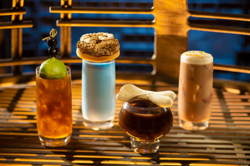 Moogan Tea, Blue Bantha, Bloody Rancor, and the Black Spire Brew at Oga's Cantina
