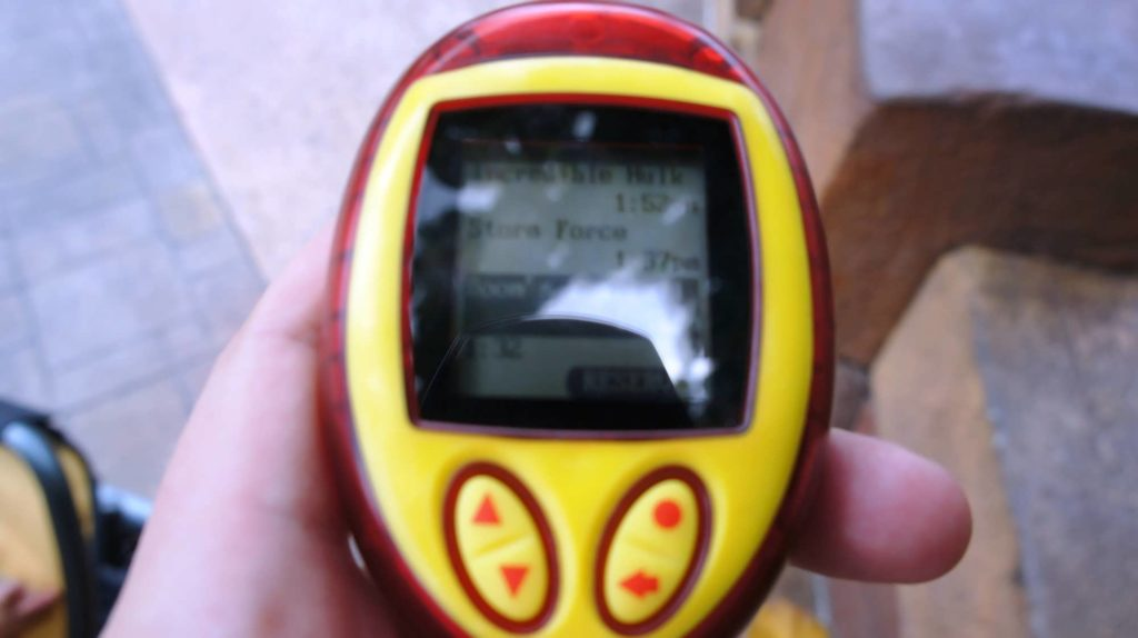 Q-Bot Ride Reservation System at Universal Orlando - pager