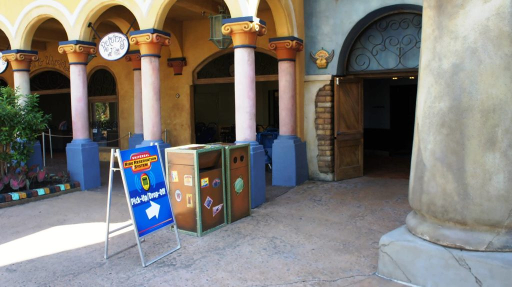 Q-Bot Ride Reservation System at Universal Orlando - where to pick up your Q-Bot, part 1