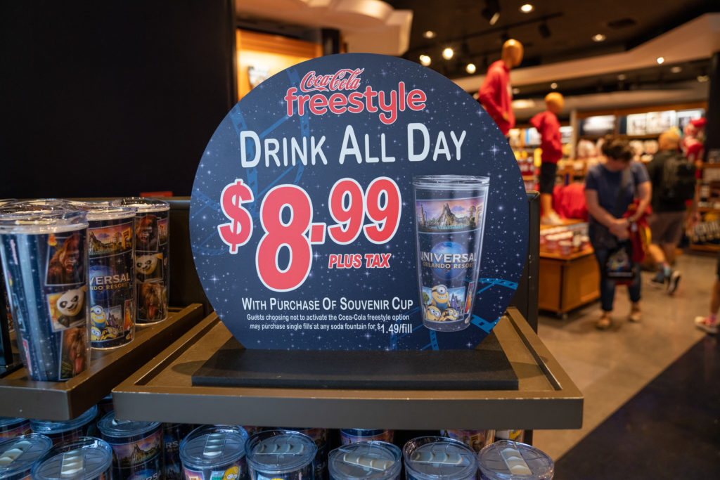 Refillable souvenir cup at Universal Orlando Resort