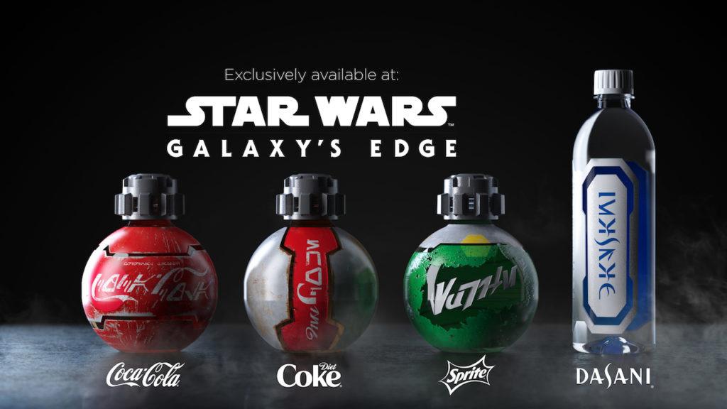 Coca-Cola drinks at Star Wars: Galaxy's Edge