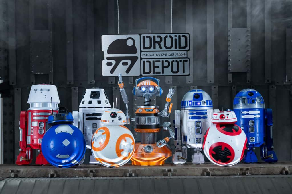 The droids available at Droid Depot