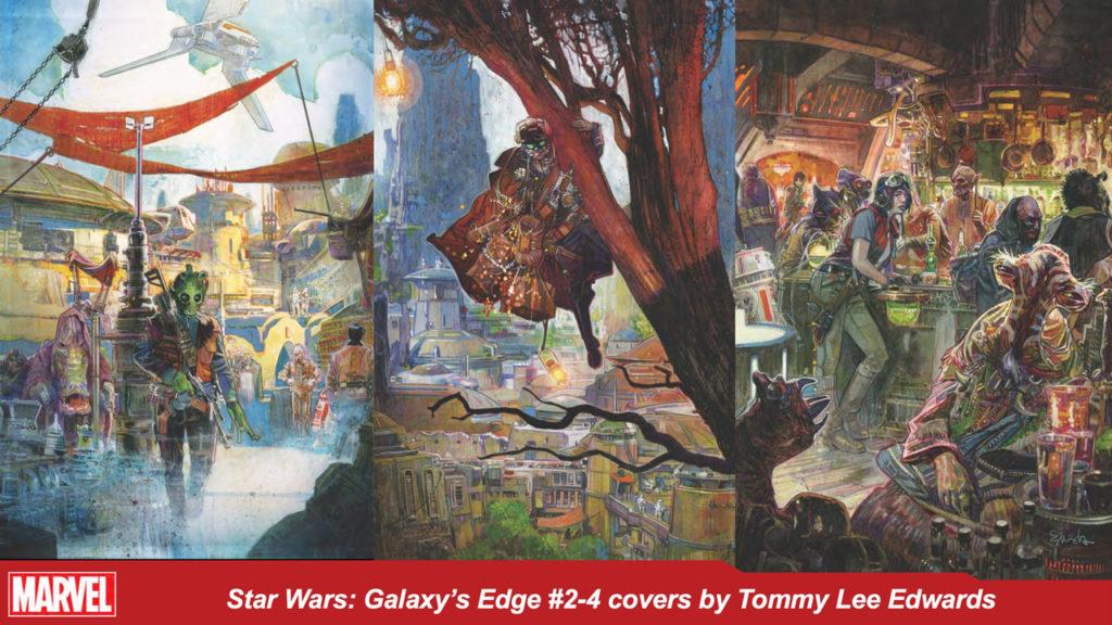 Star Wars: Galaxy's Edge #s 2-4 covers