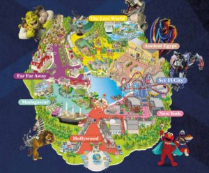 Universal Studios Singapore park map