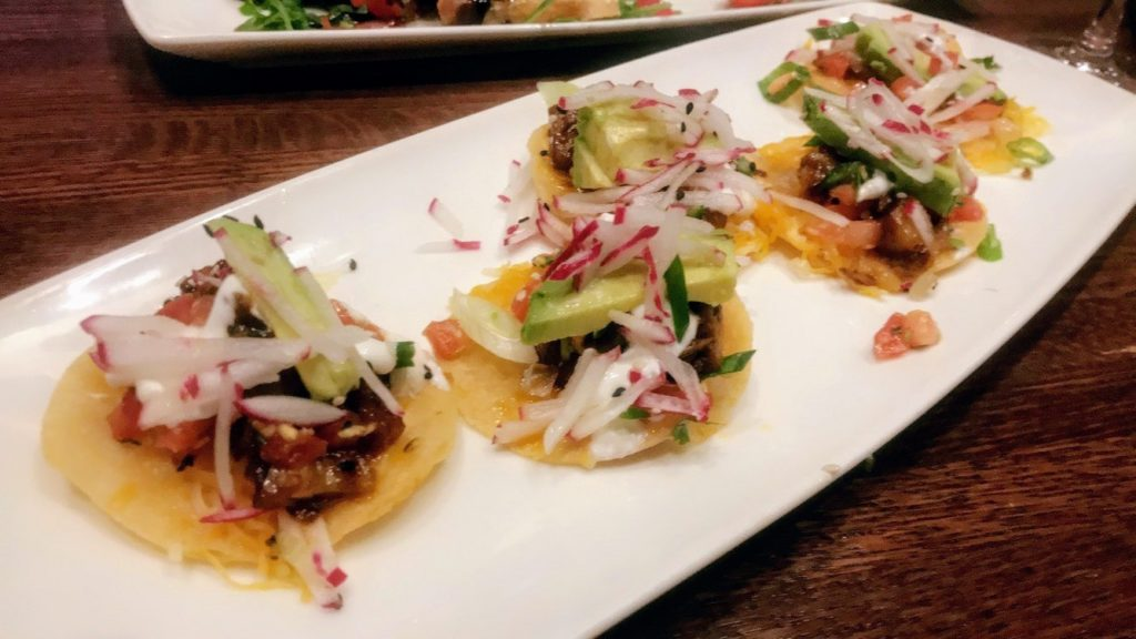 Cooper's Hawk's award-winning Asian Pork Belly Tostadas