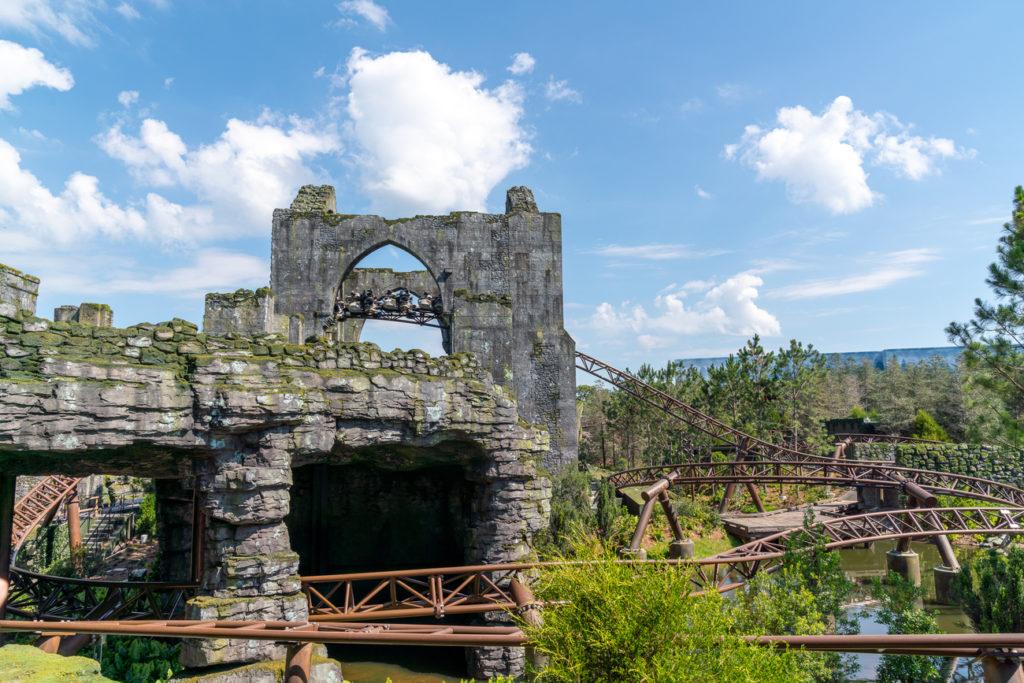 The vista of Hagrid's Magical Creatures Motorbike Adventure