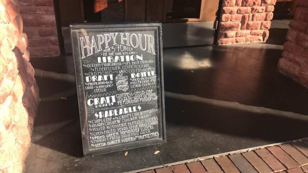 Copper Canyon Grill's happy hour menu