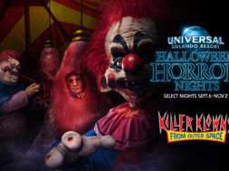 Killer Klowns from Outer Space house at Halloween Horror Nights 2019