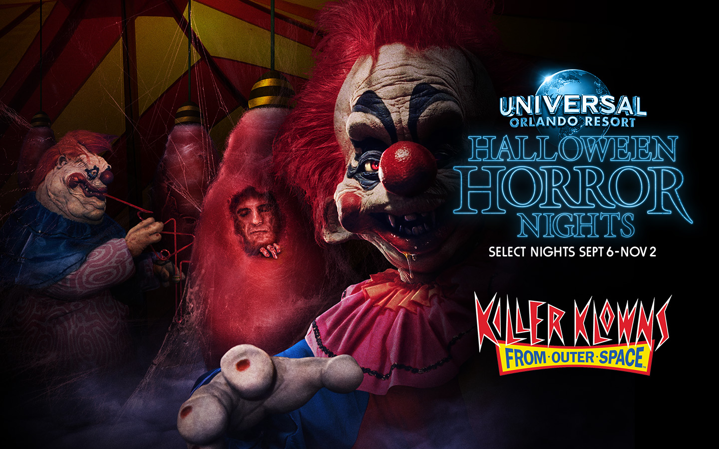 Killer Klowns from Outer Space house announced for Halloween Horror Nights 2019