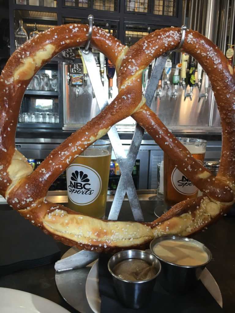 Large Warm Soft Pretzel from NBC Sports Grill & Brew in CityWalk
